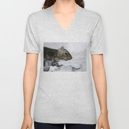 Waterfall Squirrel Unisex V-Neck