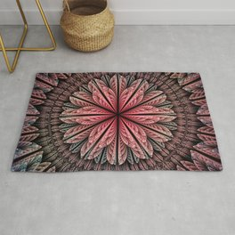Fantasy flower and petals Rug