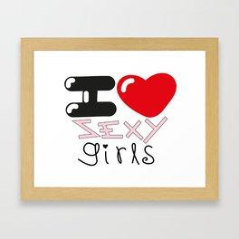 Sexy Girls Framed Art Print