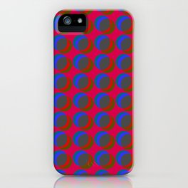 B.L.I.N.K. - optical illusion in red and blue iPhone Case
