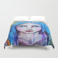 mother Duvet Covers featuring Mother by Gioncarla