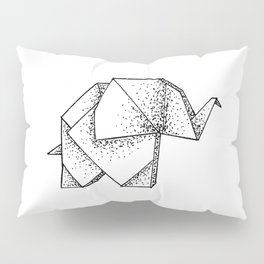 Origami Elephant Pillow Sham