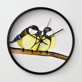 A Pair of Great Tits Wall Clock