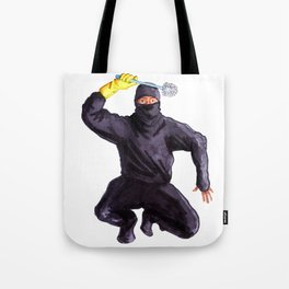 Bathroom Ninja Tote Bag