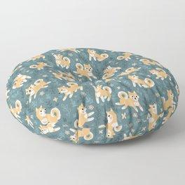 Playful Shiba Inu Pattern Floor Pillow