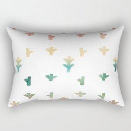 Colorful Boho tree pattern Rectangular Pillow