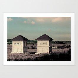 Del Beach Huts Art Print