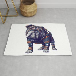 English Bulldog (Color Version) Rug