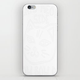 Cats MEOW side how Bow Da iPhone Skin