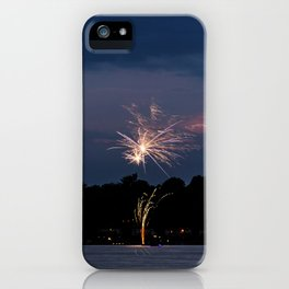 Fireworks Over Lake 21 iPhone Case