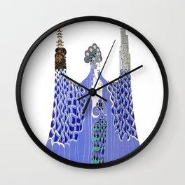 "Art Deco Design ""Pacific Ocean"" by Erté Wall Clock"