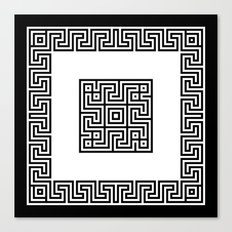 Greek Key black Canvas Print