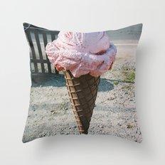 Giant Ice Cream Throw Pillow