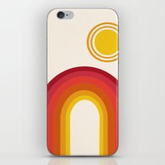 Far Out - retro throwback 70s 1970s sun planet beach 70's vibes minimal art iPhone & iPod Skin