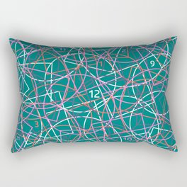 Geometry and math abstract pattern Rectangular Pillow