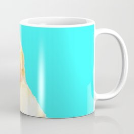 Duckling Portrait Turquoise Background Coffee Mug