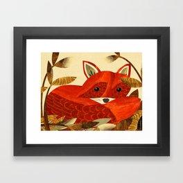 Autumnal Fox Framed Art Print
