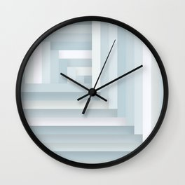 Herringbone Layers Wall Clock