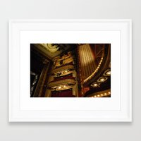 theatre Framed Art Prints featuring Theatre by Julia Rose