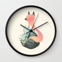 grand theft auto Wall Clocks featuring renardo by yohan sacre