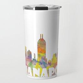 Indianapolis Indiana  Skyline MCLR 2 Travel Mug