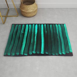 We Have Cold Winter Teal Dreams At Night Rug