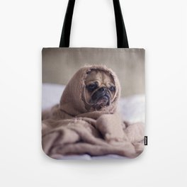 Snug pug in a rug Tote Bag