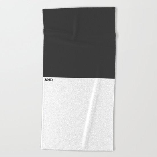 Black and White #Minimal Beach Towel