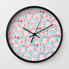 Blobfish Pattern Wall Clock