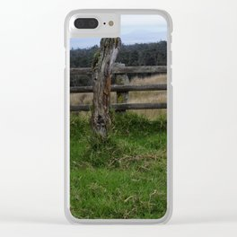 Rustic Fence Clear iPhone Case