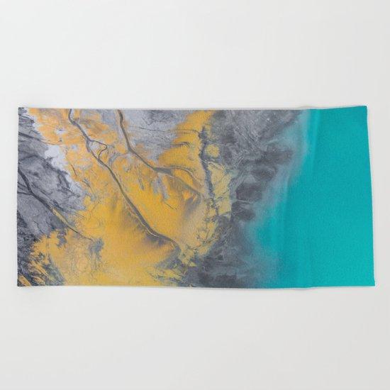 Turquoise World Beach Towel