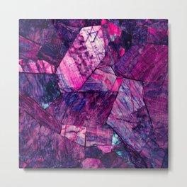 Labradorite Purple Metal Print