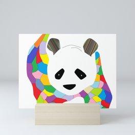 Patchwork Panda Mini Art Print