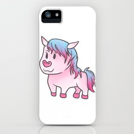 Horse mare stallion pony equestrian girl gift iPhone Case