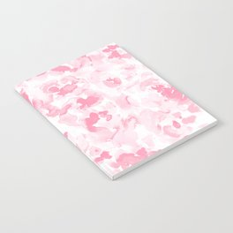 Abstract Flora Millennial Pink Notebook