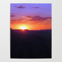 Colorful Grand Canyon Sunset Poster