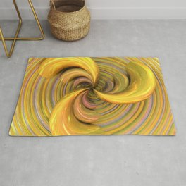 Golden Ribbons Rug