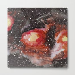 Burning galaxy Metal Print