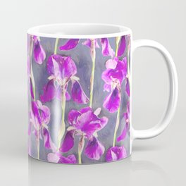 Simple Iris Pattern in Warm Magenta Coffee Mug