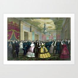 President Lincoln's Last Reception Art Print