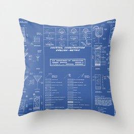 COCKTAIL print Throw Pillow