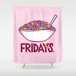 Fruit Loop Fridays Shower Curtain