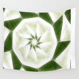Green White Kaleidoscope Art 9 Wall Tapestry