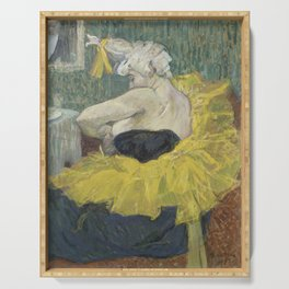 "Henri de Toulouse-Lautrec ""The Clown Cha-U-Kao"" Serving Tray"