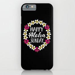 Happy Aloha Sunday Hawaiian Lei Flower Necklace iPhone Case