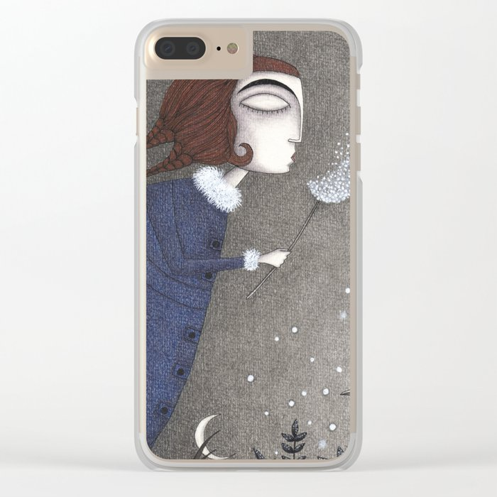 Winter Twilight Clear iPhone Case