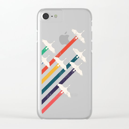 The Cranes Clear iPhone Case
