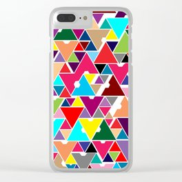 Abstract Invasion Clear iPhone Case
