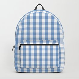 Classic Pale Blue Pastel Gingham Check Backpack