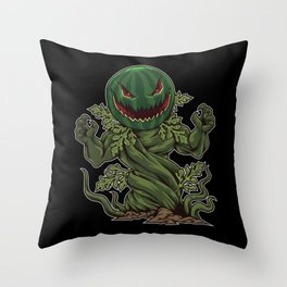 Halloween Watermelon comes from the ground Throw Pillow